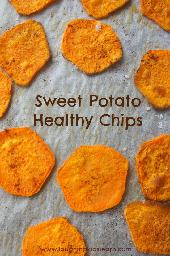 How To Cook A Sweet Potato  How to bake sweet potato chips in the oven with kids