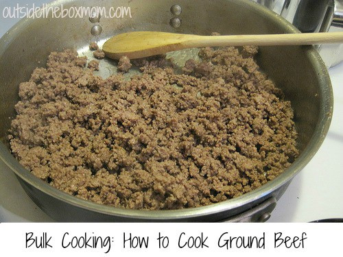 How To Cook Ground Beef  Bulk Cooking How to Cook Ground Beef Outside the Box