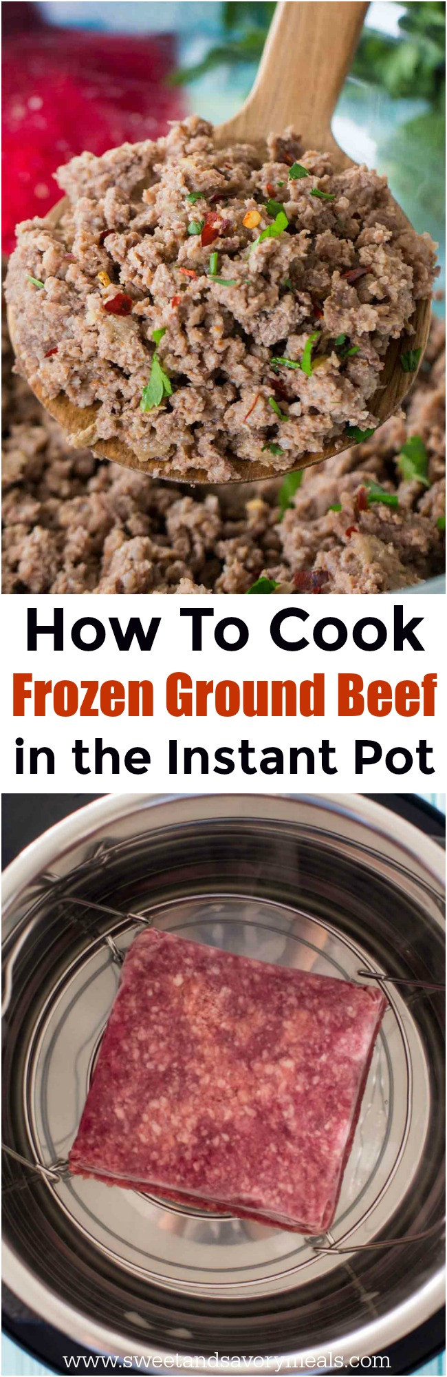 How To Cook Ground Beef  How To Cook Frozen Ground Beef In The Instant Pot Sweet