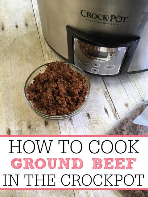 How To Cook Ground Beef  How To Cook Ground Beef In Crock pot Frugally Blonde