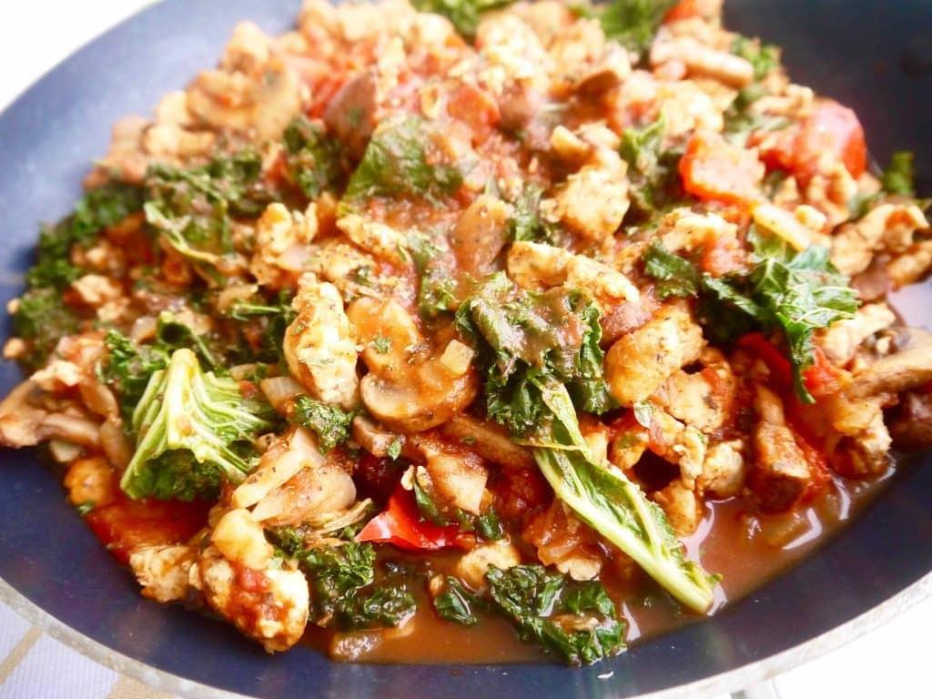 How To Cook Ground Chicken  Paleo Mushroom Kale and Spiced Ground Chicken Tomato