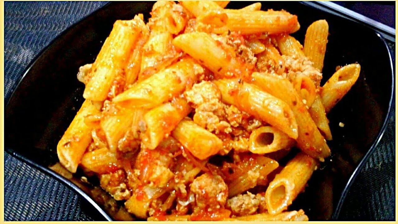 How To Cook Ground Chicken  Ground Chicken Pasta Recipe