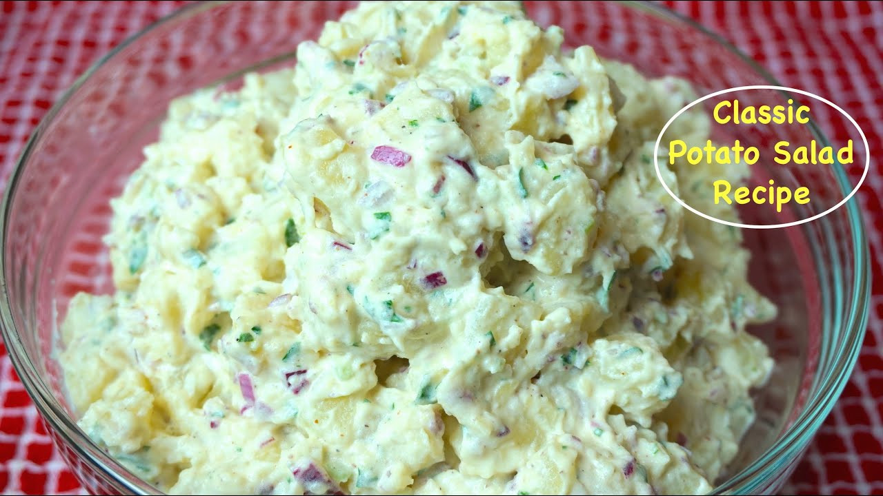 How To Cook Potatoes For Potato Salad  How to Make Potato Salad Classic American Potato Salad