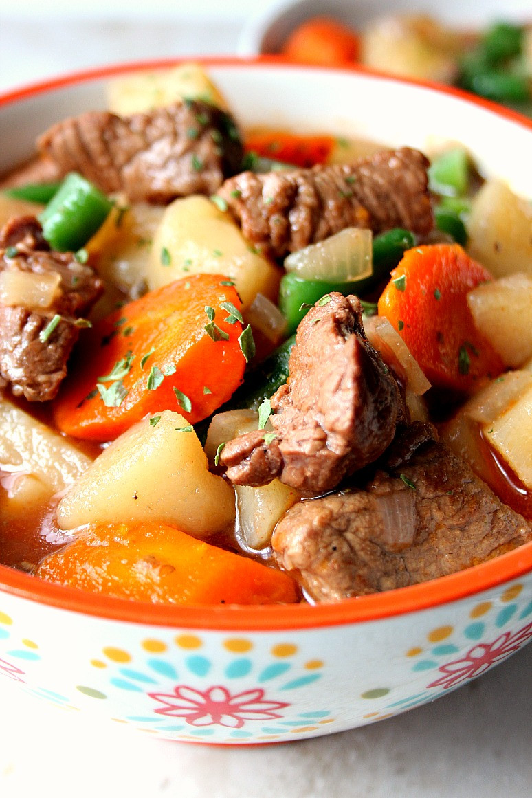 How To Cook Stew Meat  Slow Cooker Beef Stew Recipe Crunchy Creamy Sweet