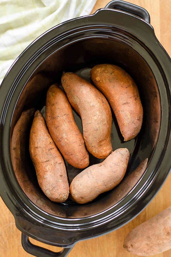 How To Cook Sweet Potato In Microwave  Slow Cooker Sweet Potatoes the Easy Way Cook Eat Paleo