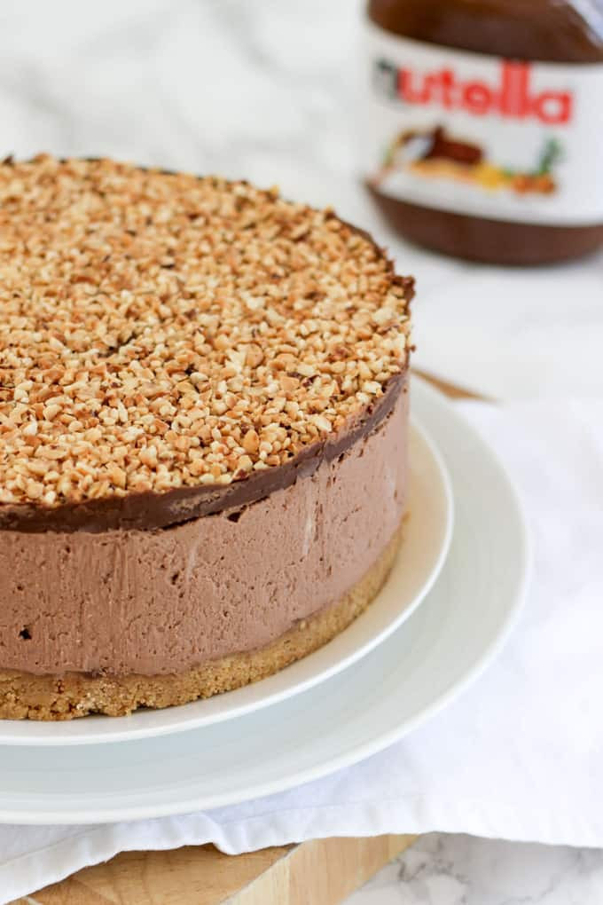 How To Make Cheese Cake  ULTIMATE No Bake Nutella Cheesecake Recipe Taming Twins