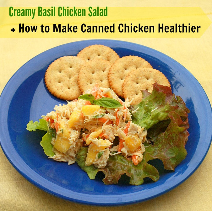 How To Make Chicken Salad With Canned Chicken  Creamy Basil Chicken Salad How to Make Canned Chicken
