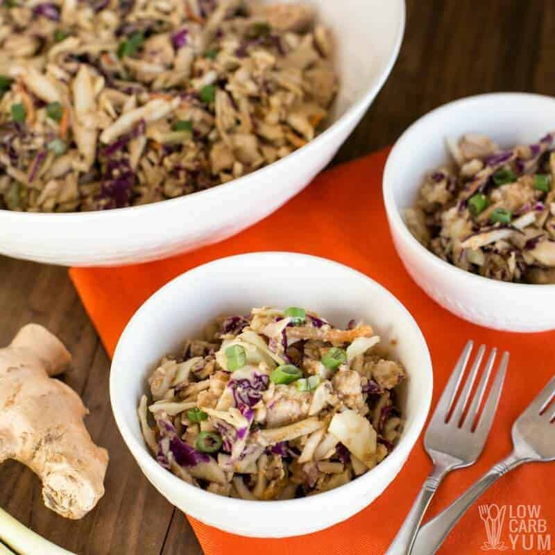 How To Make Chicken Salad With Canned Chicken  easy thai chicken salad with canned chicken sq