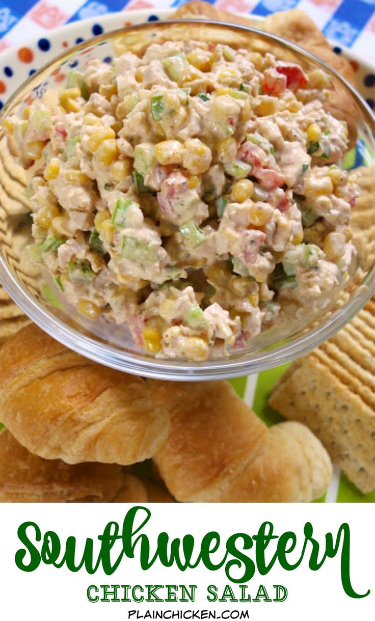 How To Make Chicken Salad With Canned Chicken  Southwestern Chicken Salad – chicken salad with lime juice
