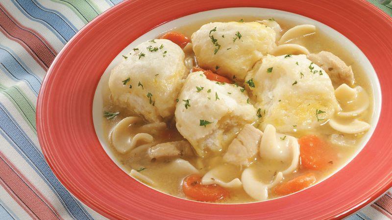 How To Make Dumplings For Chicken And Dumplings  Chicken Soup and Grands ™ Dumplings Recipe Pillsbury