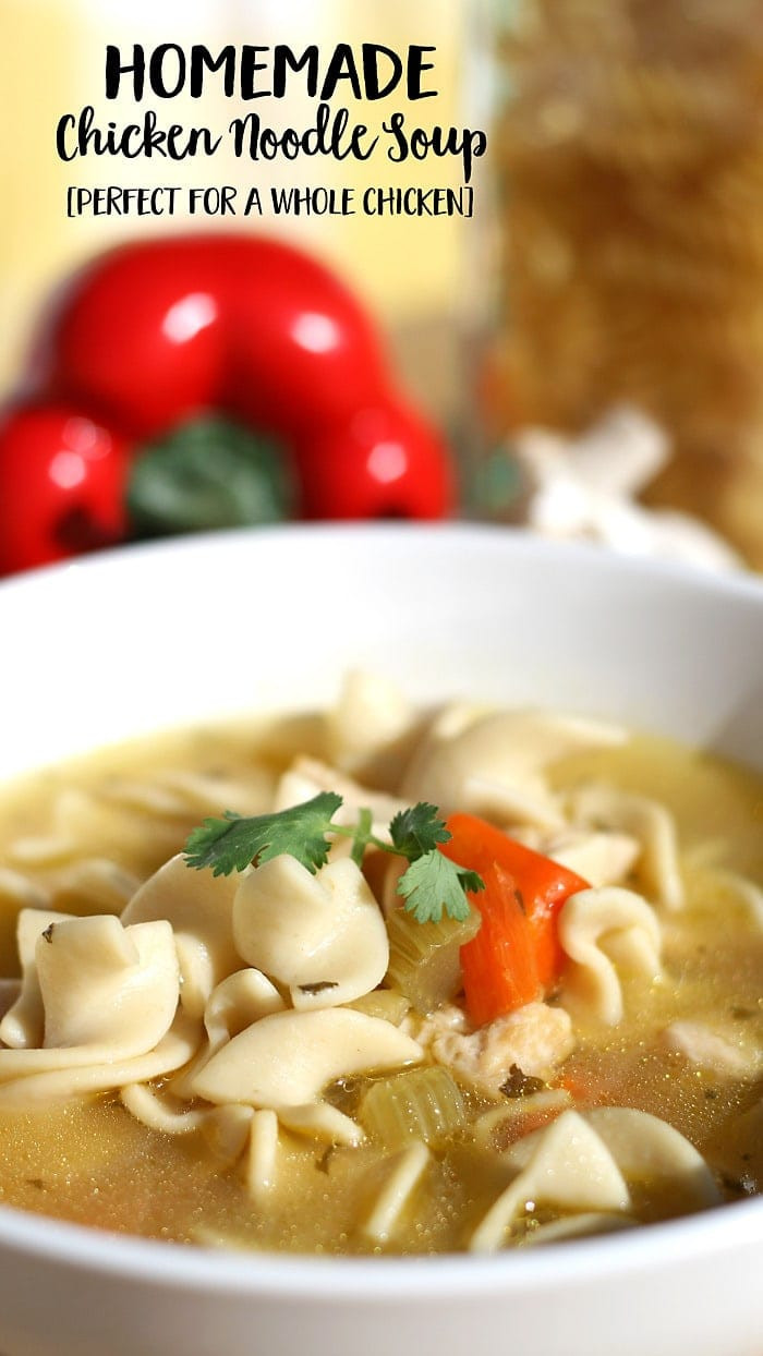 How To Make Homemade Chicken Noodle Soup  How to Make Homemade Chicken Noodle Soup from a whole
