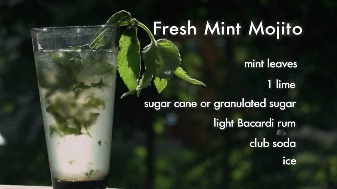 How To Make Mojitos Drinks  mojito recipe bacardi