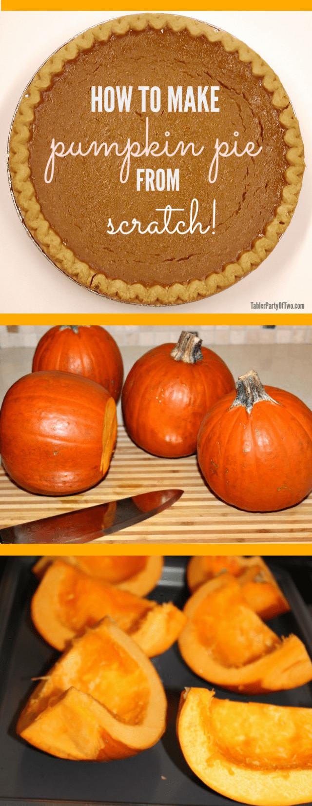 How To Make Pumpkin Pie From Scratch  Homemade Pumpkin Puree for Scratch Pumpkin Pie