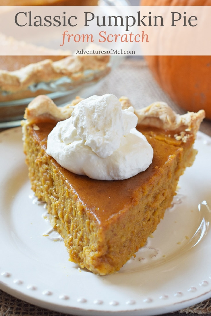 How To Make Pumpkin Pie From Scratch  Classic Pumpkin Pie from Scratch Adventures of Mel