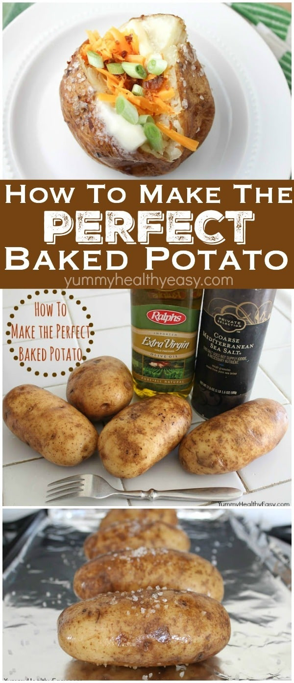 How To Make The Perfect Baked Potato  How To Make the Perfect Baked Potato Yummy Healthy Easy