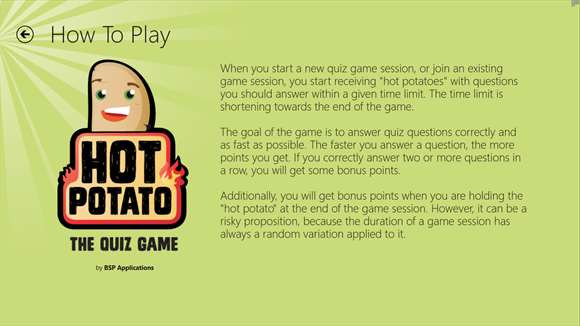 How To Play Hot Potato  Hot Potato The Quiz Game for Windows 10 free