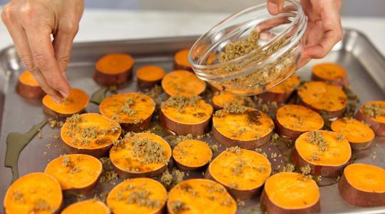 How To Roast A Sweet Potato  Roasted Sweet Potato Coins Recipe from Jessica Seinfeld