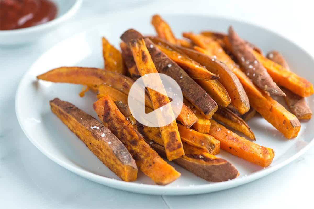 How To Roast A Sweet Potato  Easy Homemade Baked Sweet Potato Fries Recipe