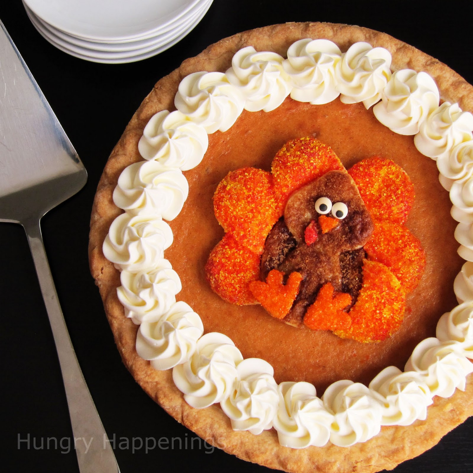 How To Store Pumpkin Pie  Decorated Pumpkin Pie Festive Thanksgiving Dessert