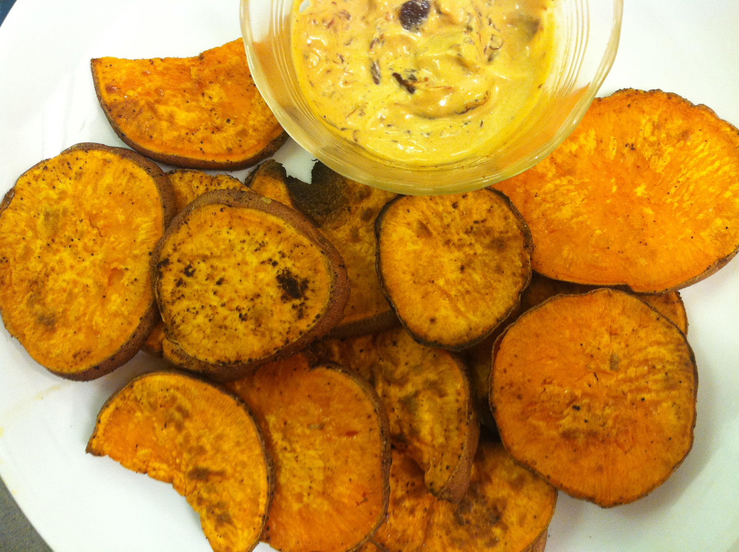 How To Tell If A Potato Is Bad  BAKED PILLOWY SWEET POTATO ROUNDS CHIPOTLE MAYO