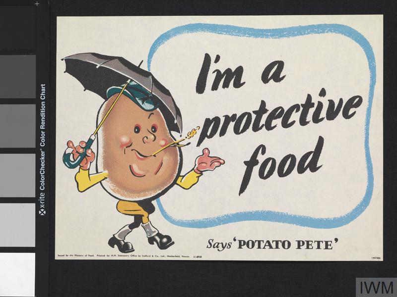 I'M A Potato  I m a Protective Food Says Potato Pete Art IWM PST