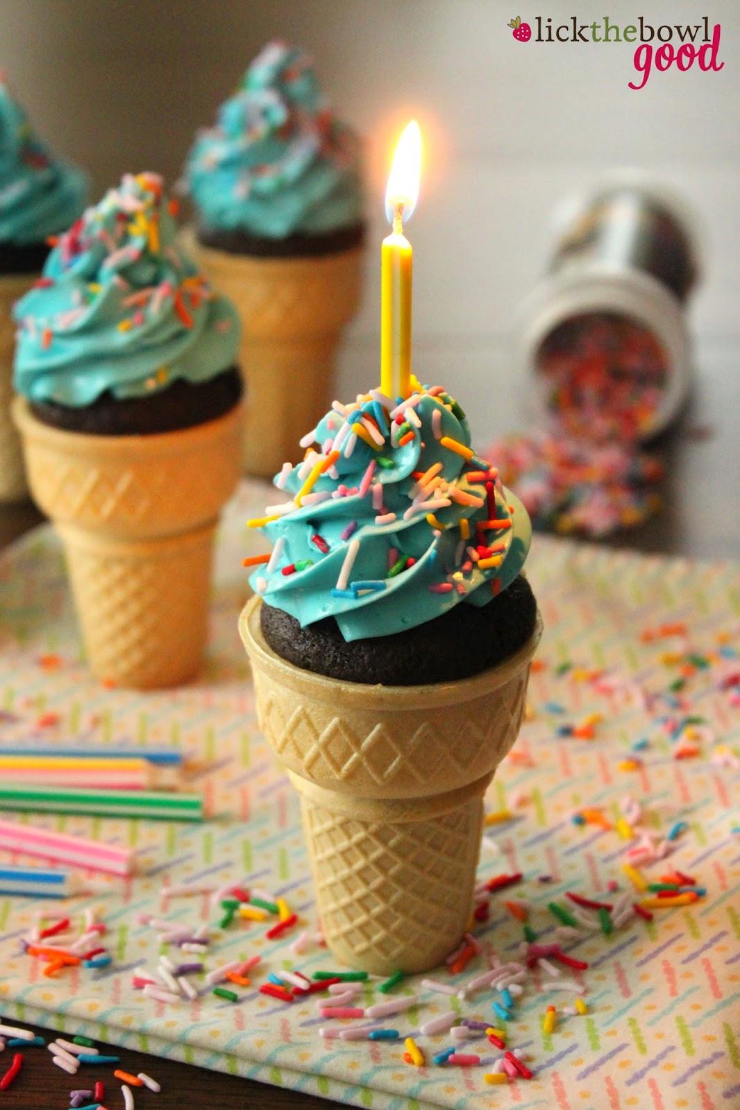 Ice Cream Cone Cupcakes  Lick The Bowl Good Ice Cream Cone Cupcakes & The