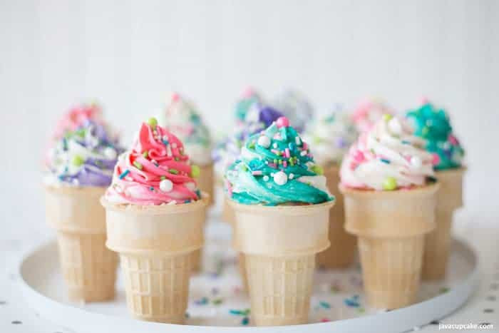 Ice Cream Cone Cupcakes  Ice Cream Cone Cupcakes JavaCupcake