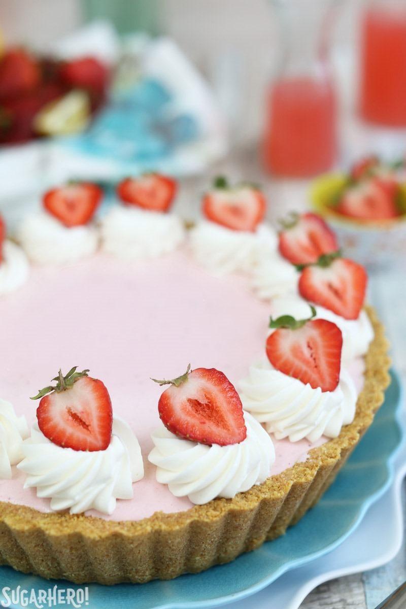 Ice Cream Pie  Strawberry Lemonade Ice Cream Pie SugarHero