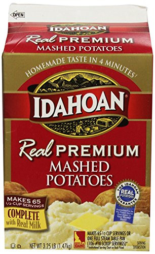 Idahoan Instant Mashed Potatoes  Idahoan Idahoan Real Mashed Gable Carton