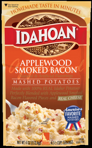 Idahoan Instant Mashed Potatoes  Applewood Smoked Bacon Mashed Potatoes Idahoan Mashed