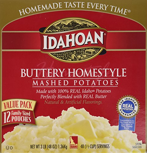 Idahoan Instant Mashed Potatoes  Idahoan Idahoan Buttery homestyle flavored mashed