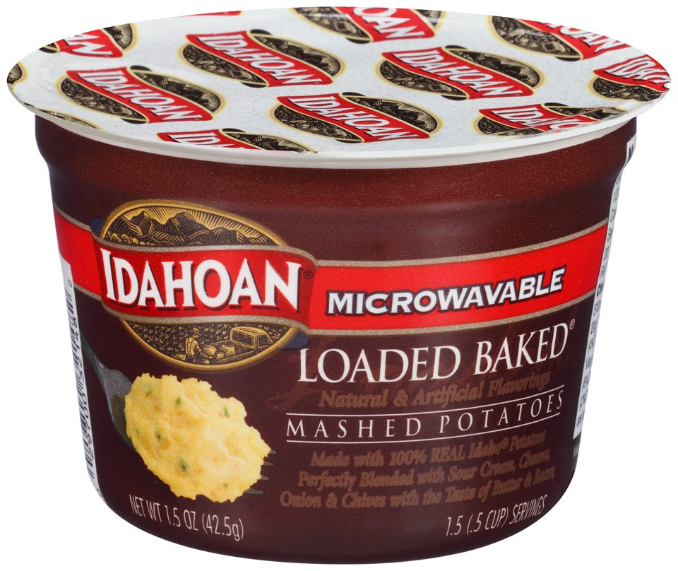 Idahoan Instant Mashed Potatoes  Idahoan Microwavable Instant Mashed Potatoes Loaded Baked