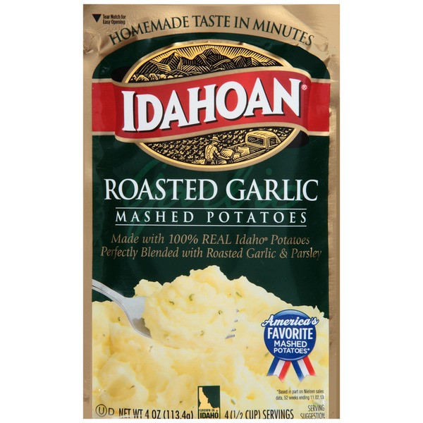 Idahoan Instant Mashed Potatoes  Idahoan Roasted Garlic Mashed Potatoes from Smart & Final
