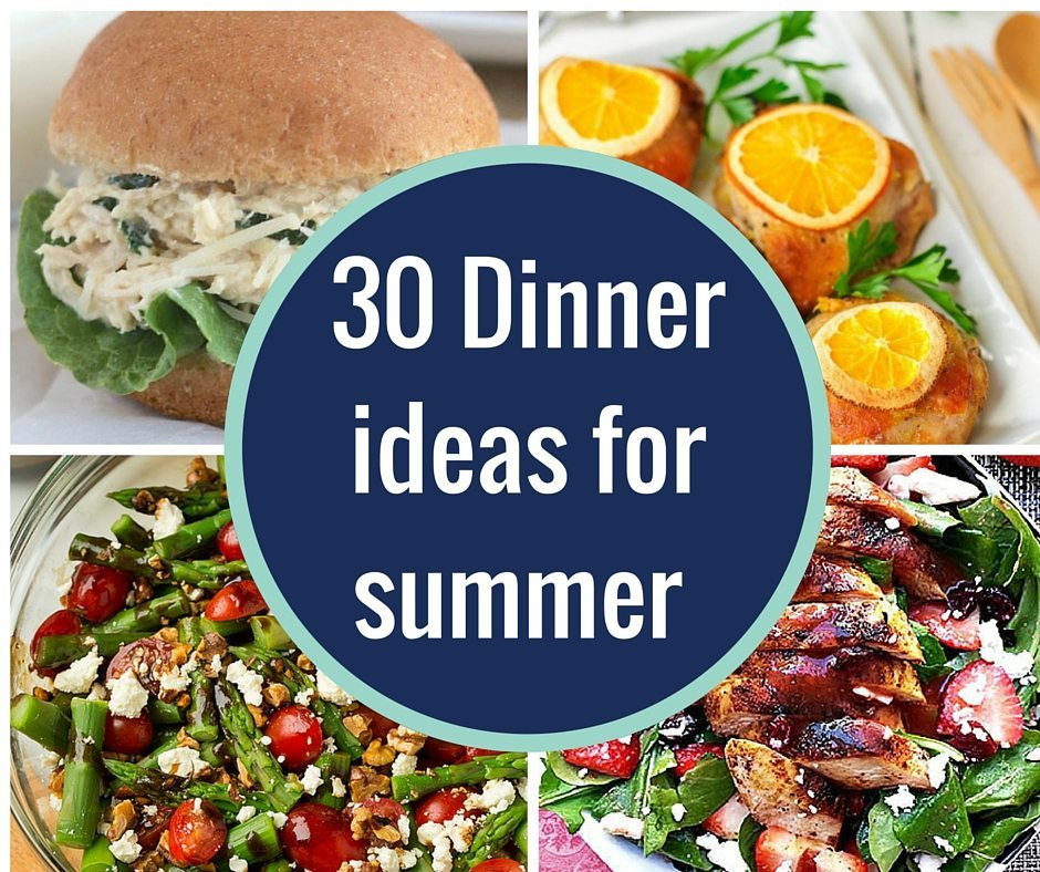 Idea For Dinner  Over 30 Dinner ideas for summer No Ovens required A