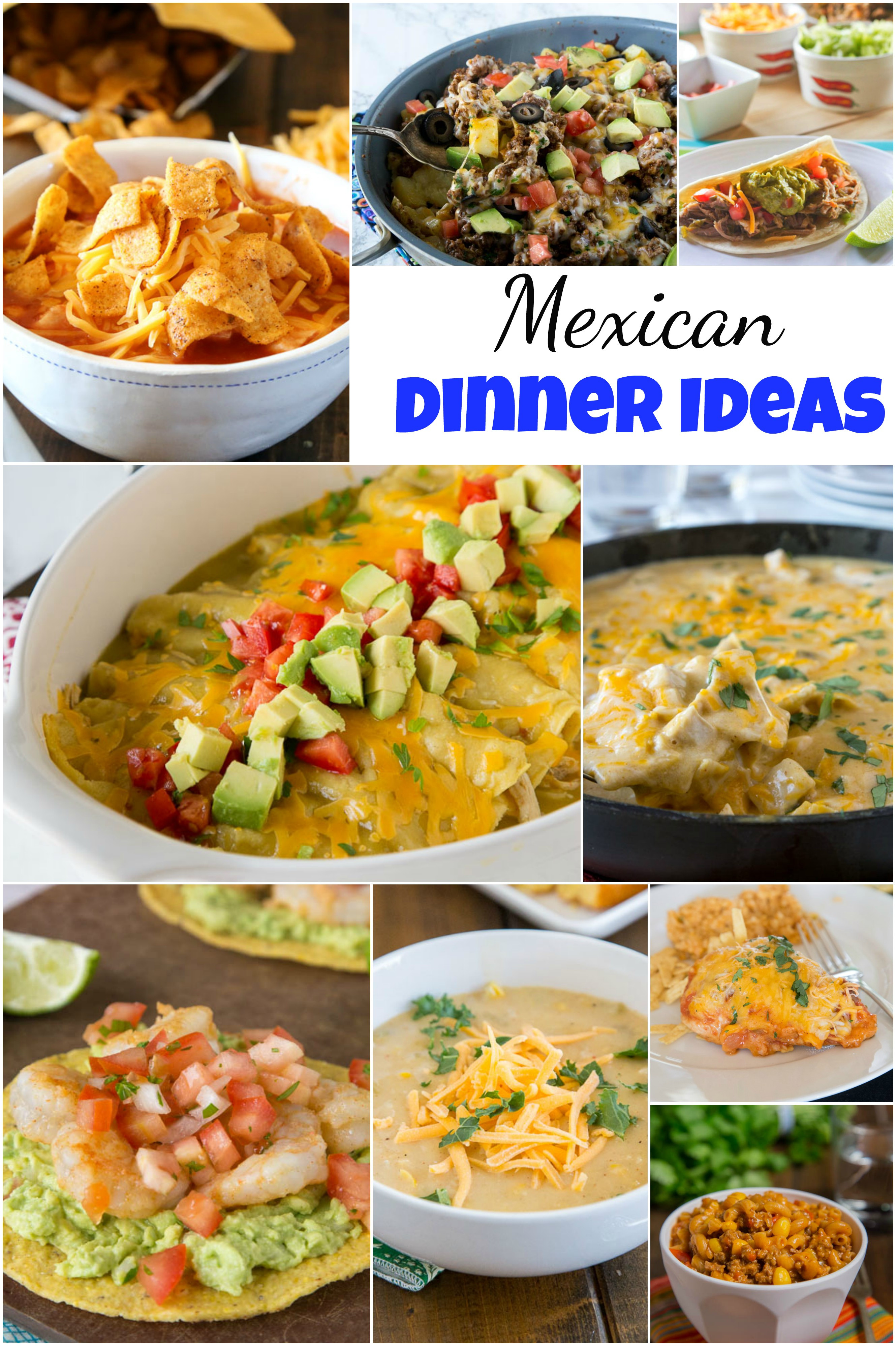 Idea For Dinner  Mexican Dinner Ideas Dinners Dishes and Desserts