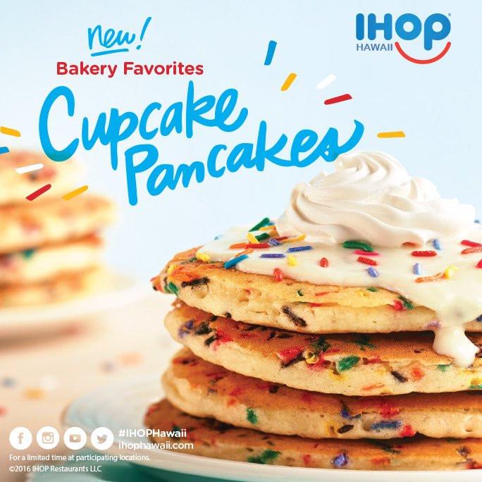 "Ihop Cupcake Pancakes  IHOP Hawaii on Twitter ""Part bakery part breakfast all"