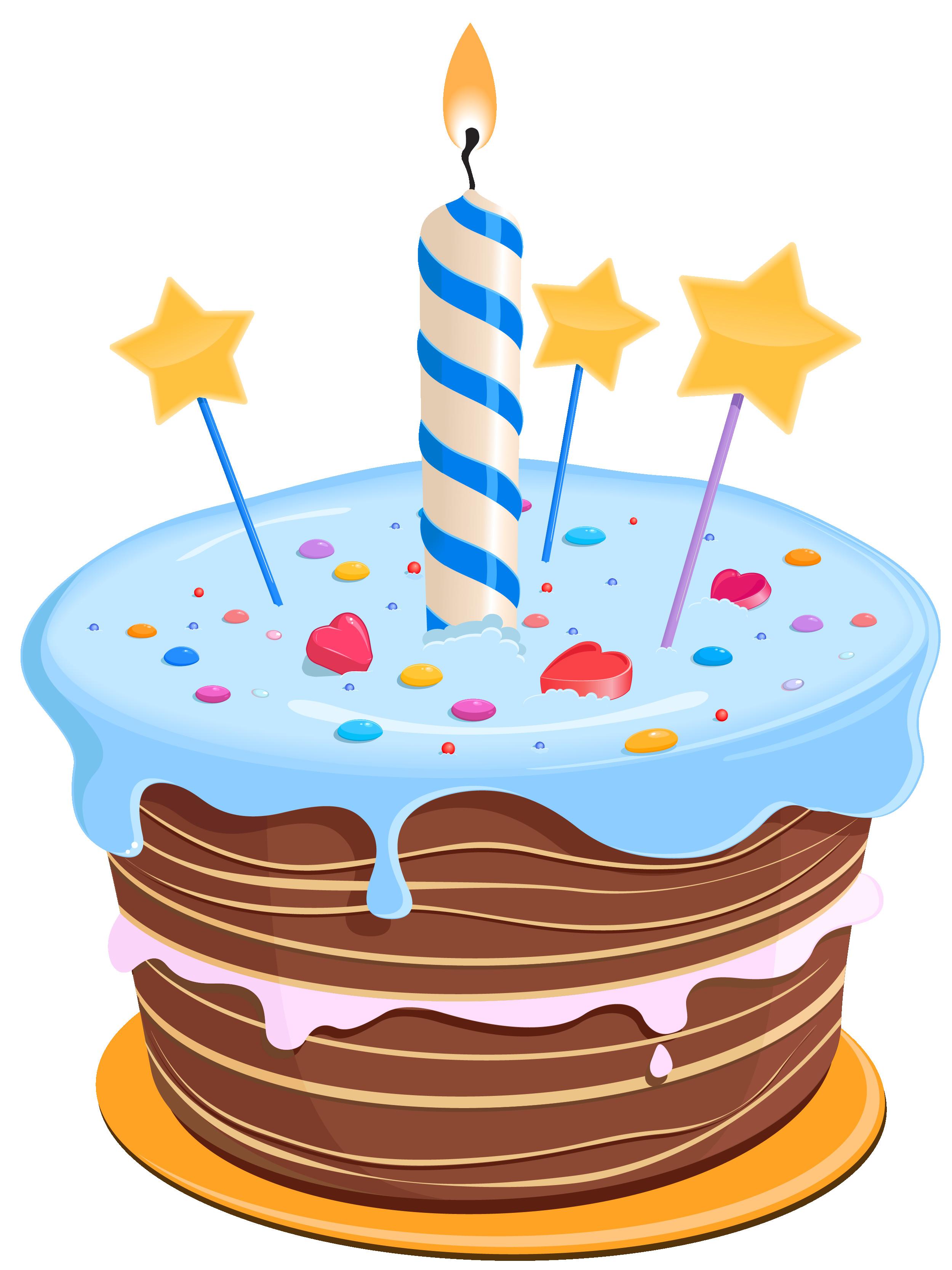 Image Birthday Cake  Birthday Cake with Stars PNG Clipart