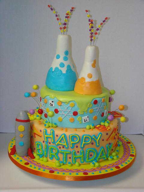 Image Birthday Cake  Mad Science Cake