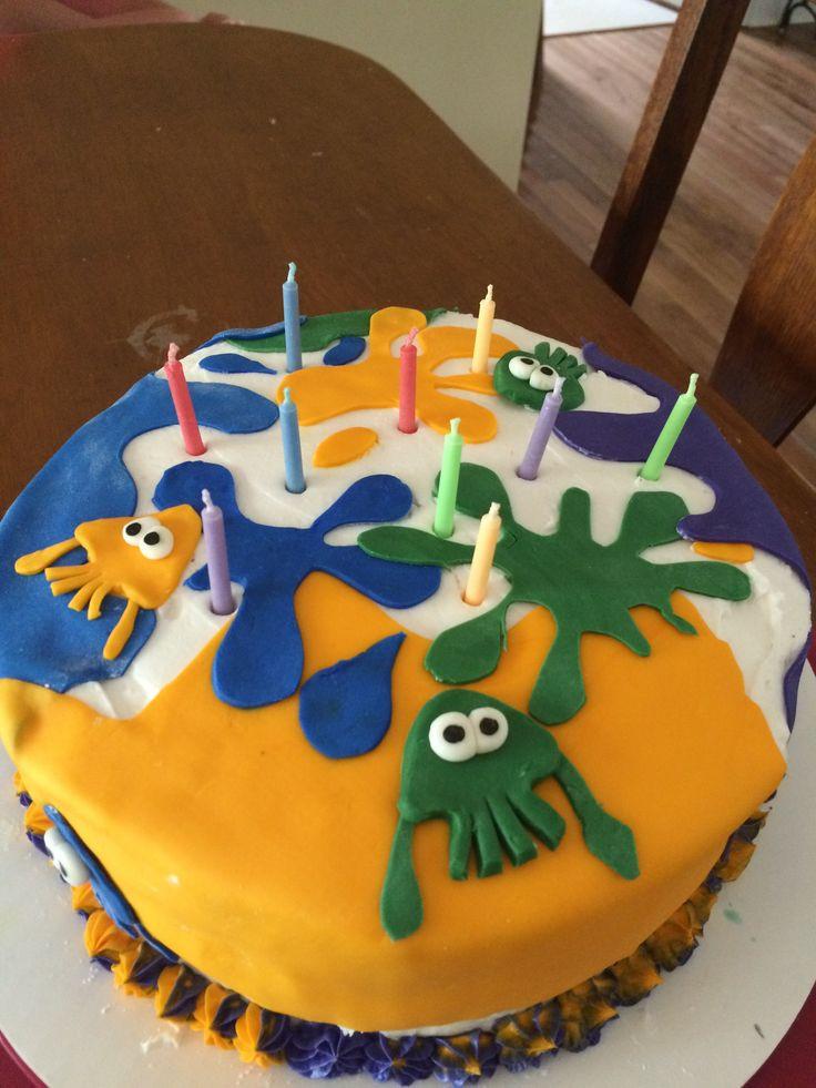 Image Birthday Cake  Splatoon cake cakes Pinterest
