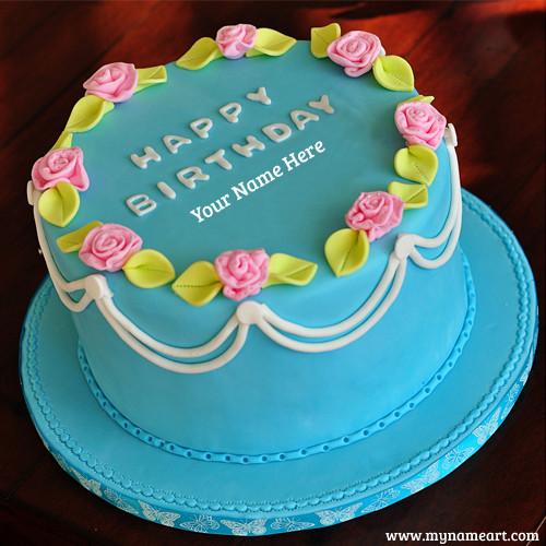 Image Birthday Cake  Cake Shape Birthday Cake Image With Name
