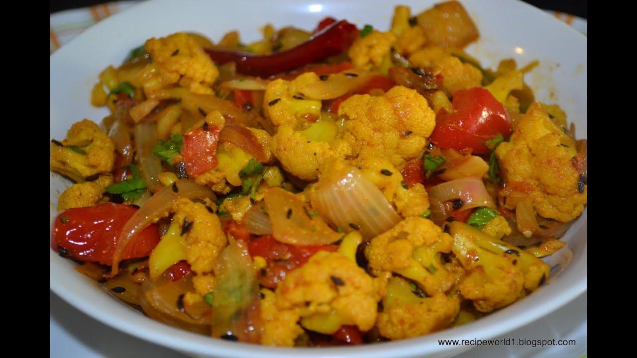 "Indian Cauliflower Recipe  How To Make ""Cauliflower Masala Curry"" Kerala Recipe"