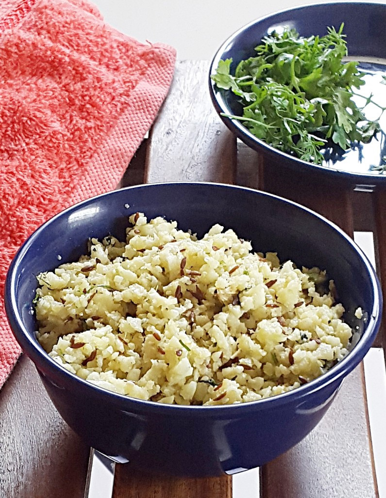 Indian Cauliflower Recipe  Indian style cauliflower rice recipe Gobi rice recipe