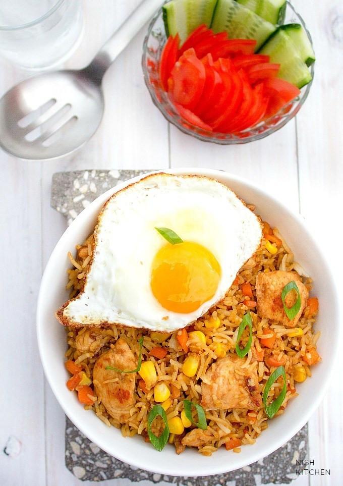 Indonesian Fried Rice  Indonesian Fried Rice Nasi Goreng Video