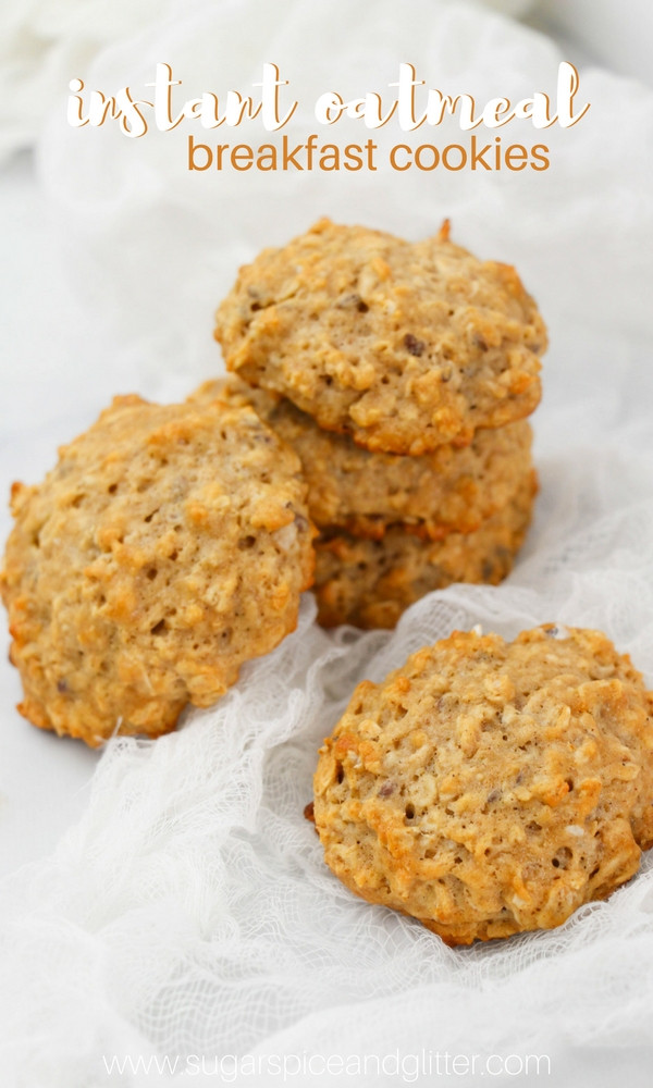 Instant Oatmeal Cookies  Healthy Oatmeal Cookies from Instant Oatmeal Mix ⋆ Sugar