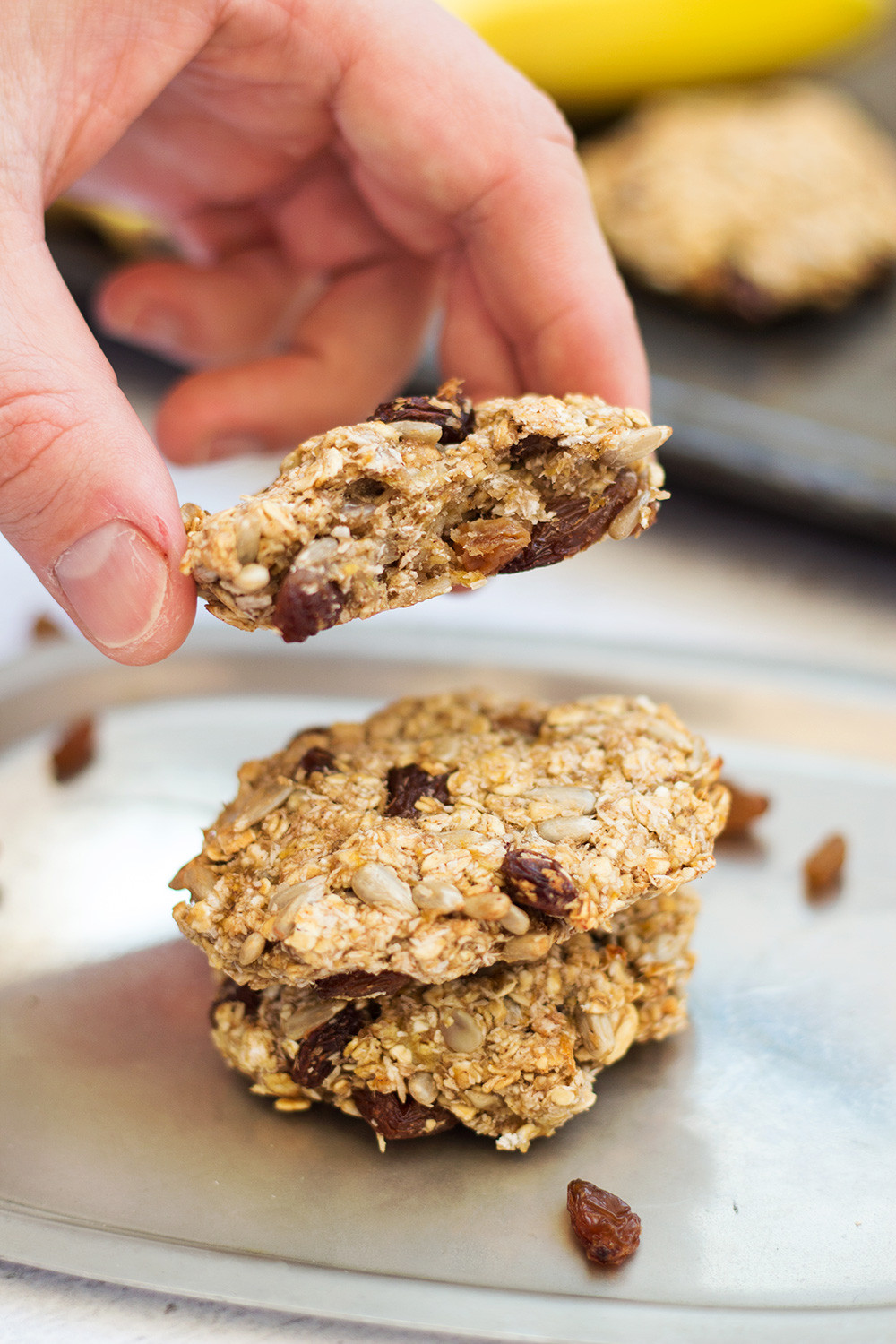 Instant Oatmeal Cookies  Healthy Instant Oatmeal Cookies Sugar & Flour Free