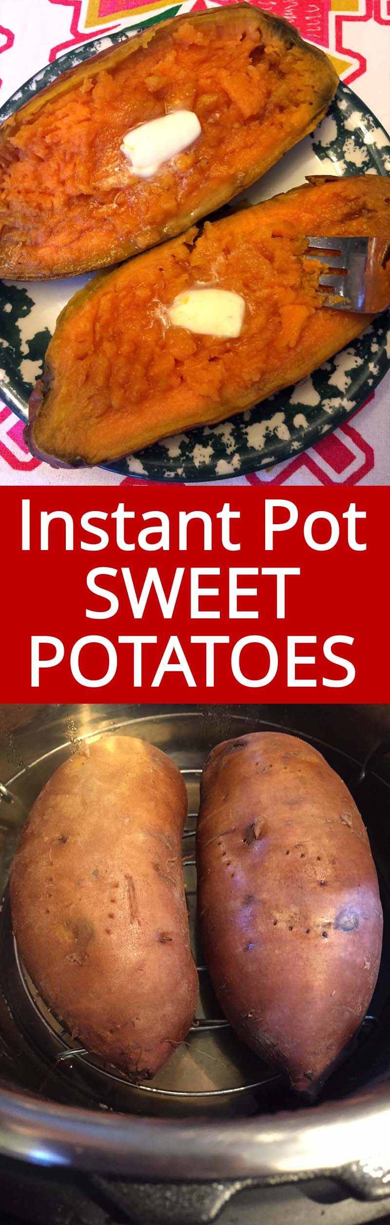 Instant Pot Baked Sweet Potato  Instant Pot Sweet Potatoes Recipe – Melanie Cooks