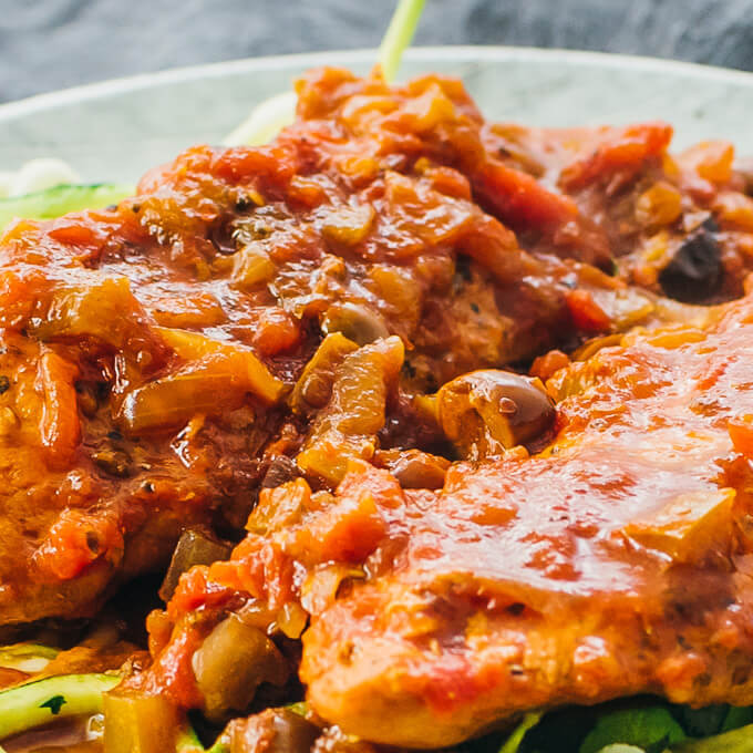 Instant Pot Boneless Skinless Chicken Thighs  Instant Pot Chicken Cacciatore Savory Tooth