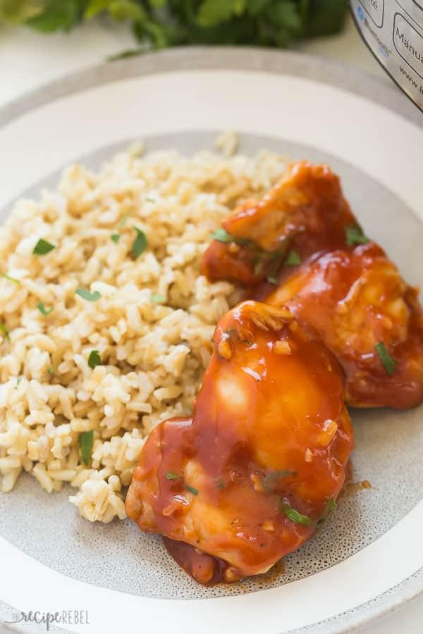 Instant Pot Boneless Skinless Chicken Thighs  BBQ Instant Pot Chicken Thighs from FRESH or FROZEN