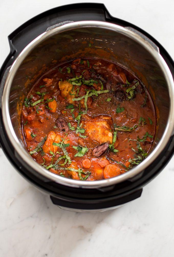 Instant Pot Boneless Skinless Chicken Thighs  Easy Instant Pot Chicken Cacciatore • Salt & Lavender