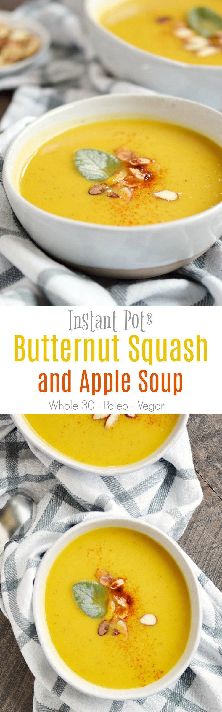 Instant Pot Butternut Squash Soup  Instant Pot Butternut Squash and Apple Soup Cooking With
